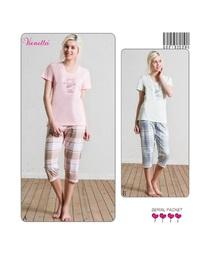 Комплект жен. Vienetta 5286 (футболка+капри)