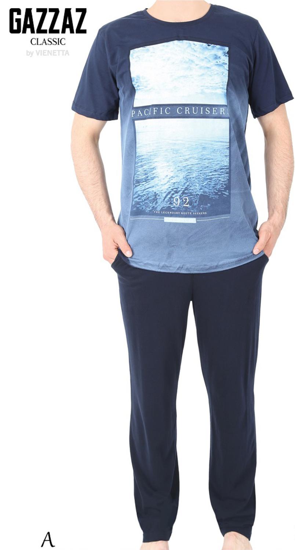 Пижама муж. Gazzaz 4958 (футболка+брюки)