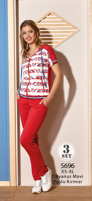 Комплект жен. RM 05696 (куртка+майка+брюки)